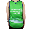 The back of the Great North Air Ambulance Service running vest