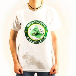 gnaas logo white t-shirt