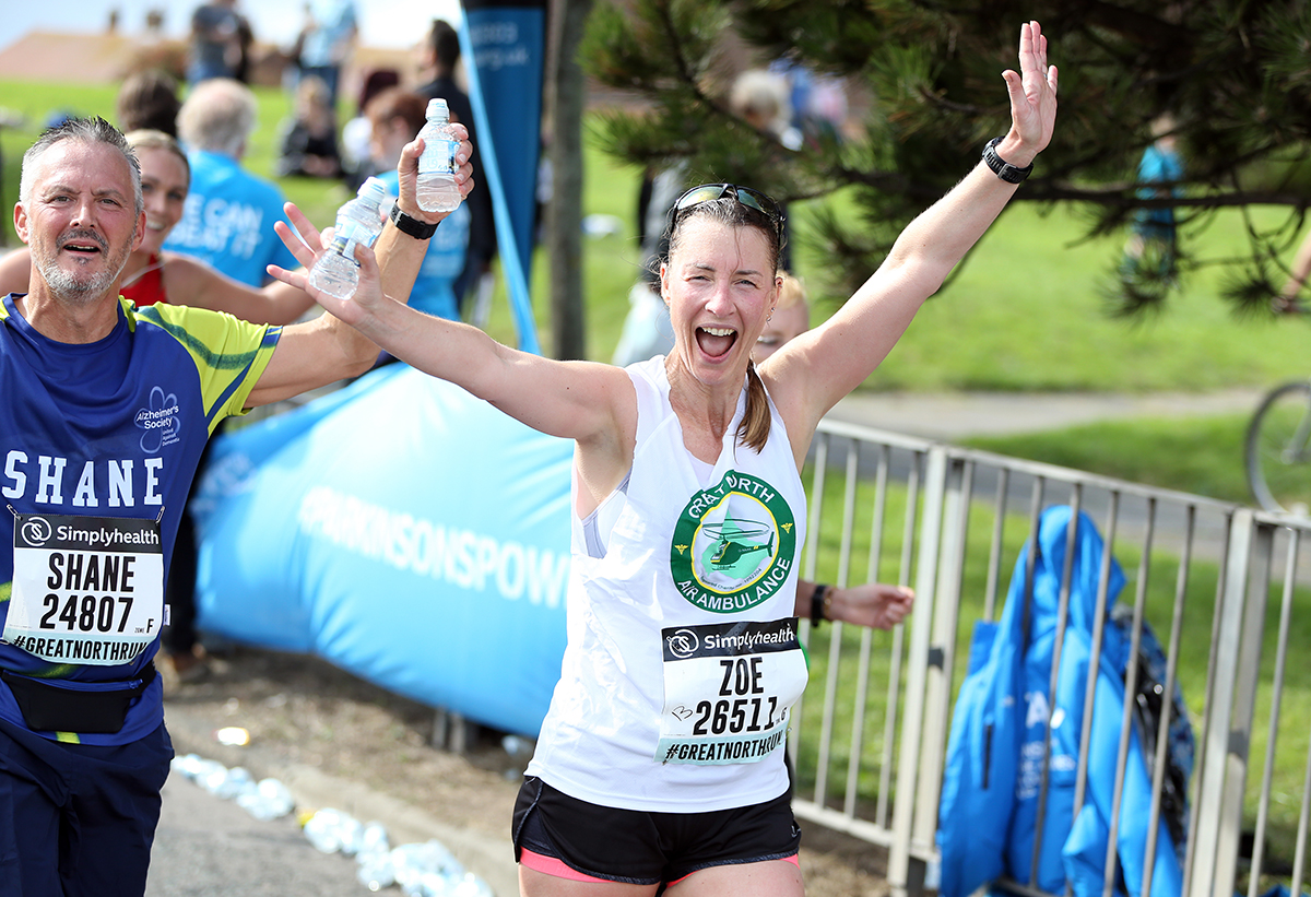 gnaas supporter running great north run for great north air ambulance service