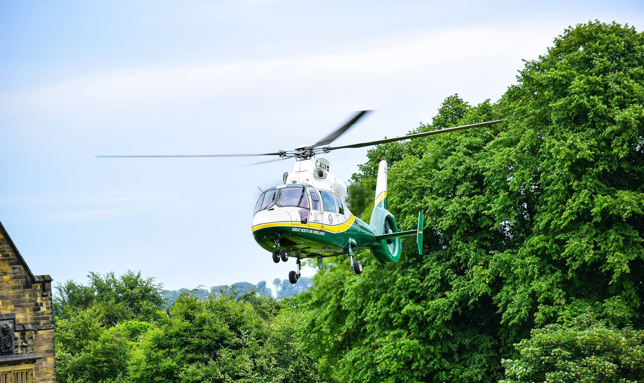 gnaas helicopter aircraft at alnwick