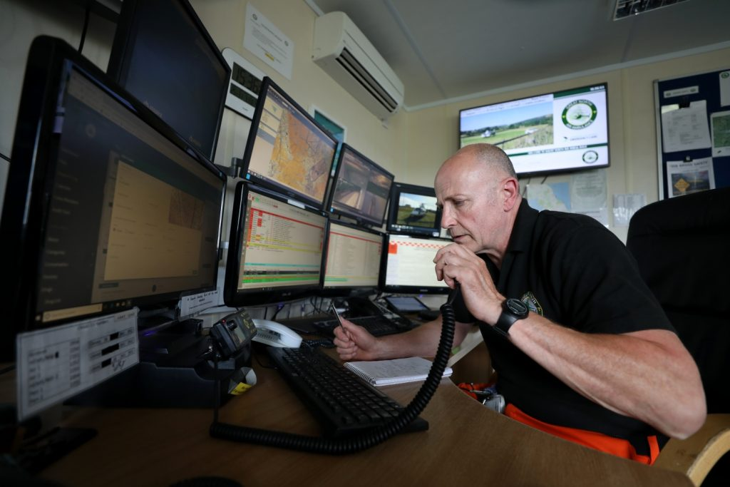 gnaas aircrew paramedic colin at control desk