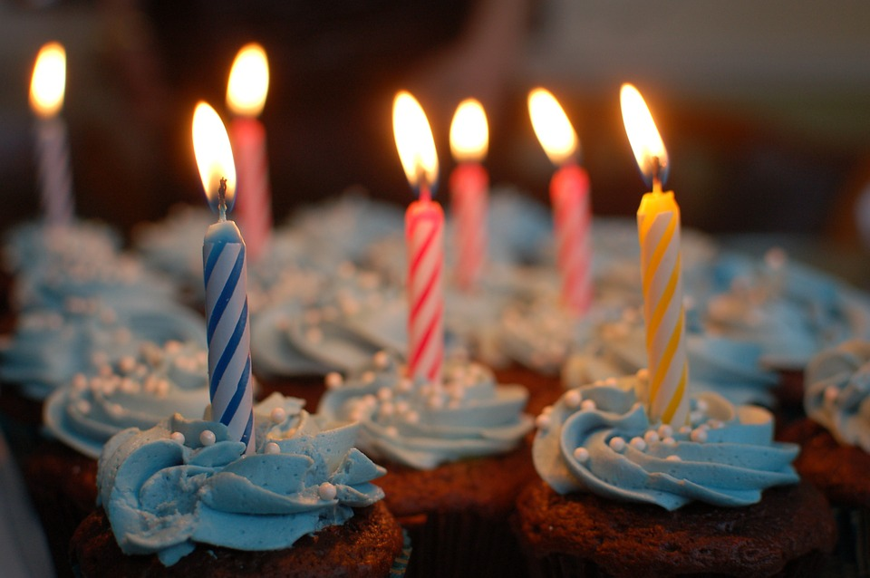 celebrate cake and candles