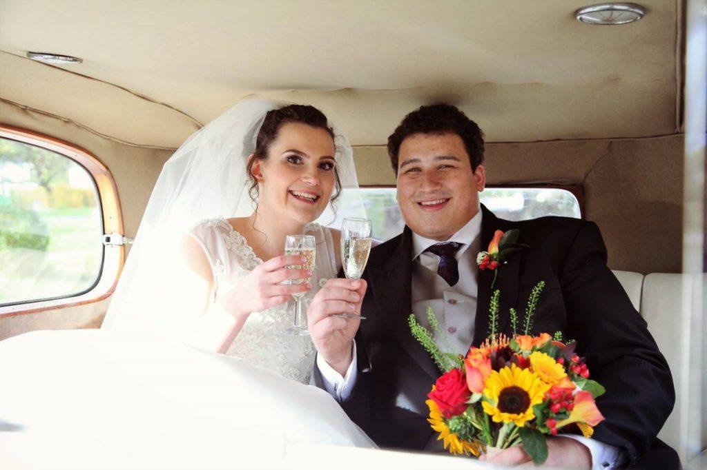 cornshed wedding couple giving in celebration