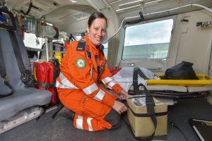 gnaas aircrew doctor rachel hawes with onboard blood box