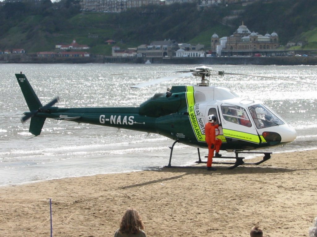 G-NAAS landed on the beach