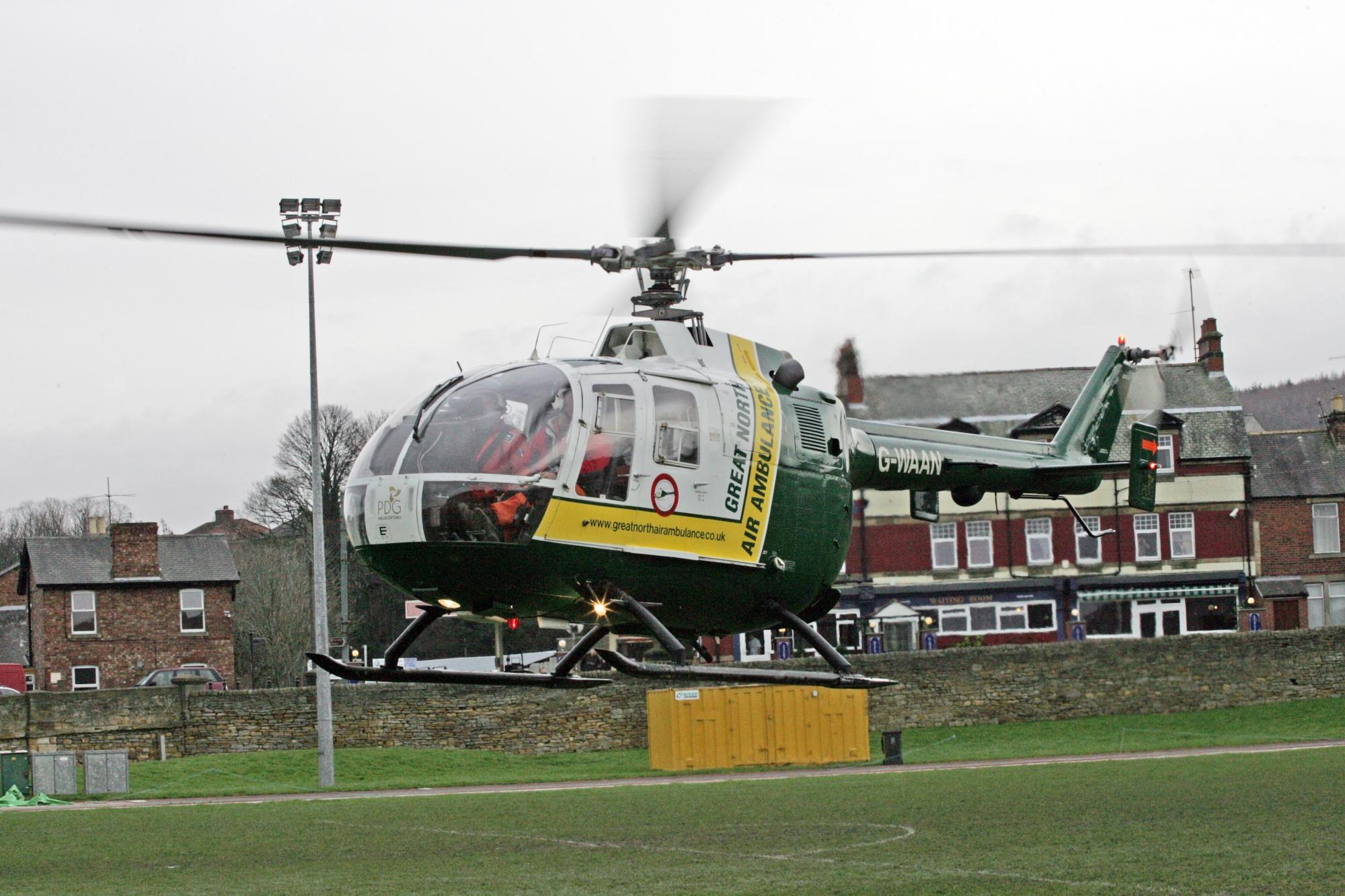 G-WAAN helicopter in flight