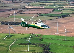 GNAAS charity helicopter flying over region