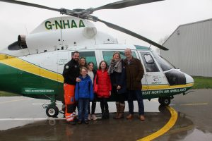 GNAAS paramedic Lee Salmon, Anna Salmon, William Gardiner, Lily Salmon, Grace Gardiner, Helen Gardiner and Richard Gardiner