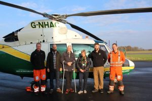Pete Holland and the team at the Great North Air Ambulance Service