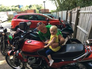Ronnie Murray and his granddaughter Darcy on his bike (2)