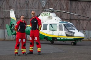 Doctor Kate Allen and paramedic Ian Grey of the Great North Air Ambulance Service