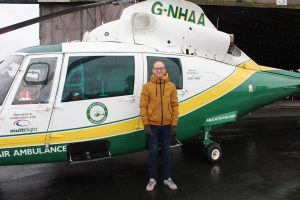 David Wilson at the Great North Air Ambulance Service base