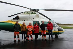 David Wilson meets the team at Great North Air Ambulance Service