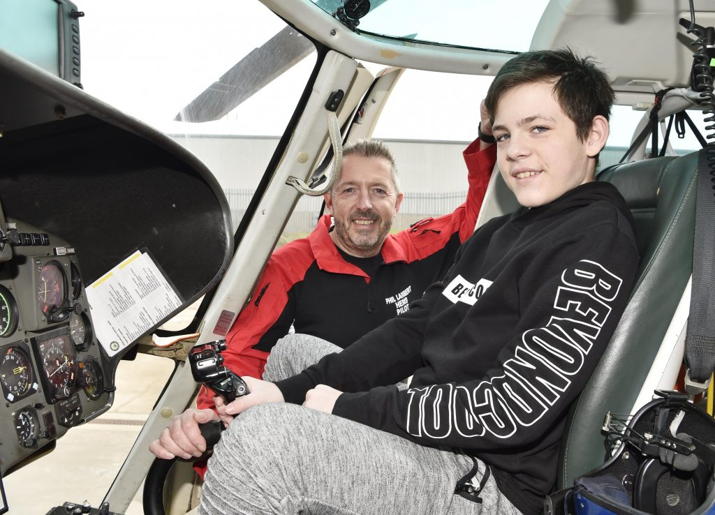 Pilot Phil Lambert with Kacper Krauze