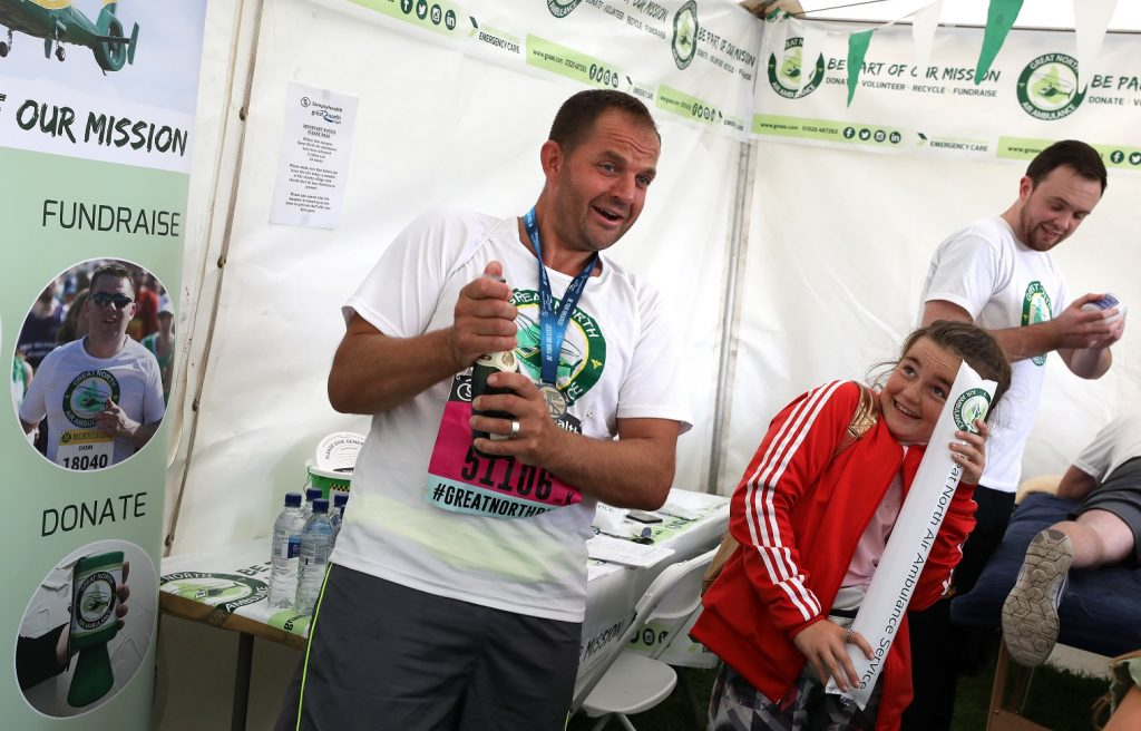 Lee Salmon after the Great North Run