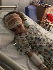 Alannah Maher in hospital