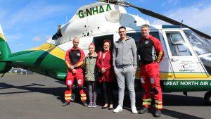 GNAAS paramedic Tim West, Gemma Turnbull, Lynne Dunham, Michael Hallas and doctor Phil Godfrey