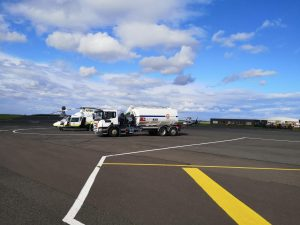 GNAAS refuelling at Newcastle International Airport