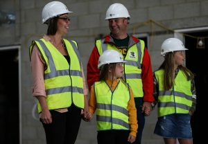 Camilla Hodgson and Paul Maher with daughters Alannah and Aoife Maher