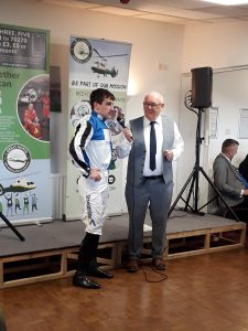 Brian Hughes with auctioneer Derek Beasley