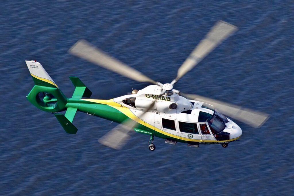 GNAAS aircraft above water