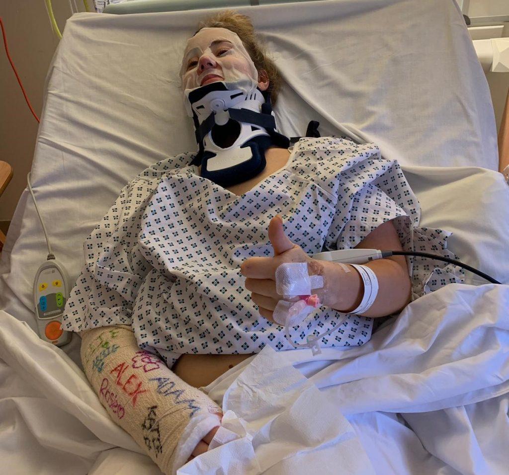 Lucy Gordon in hospital (2)