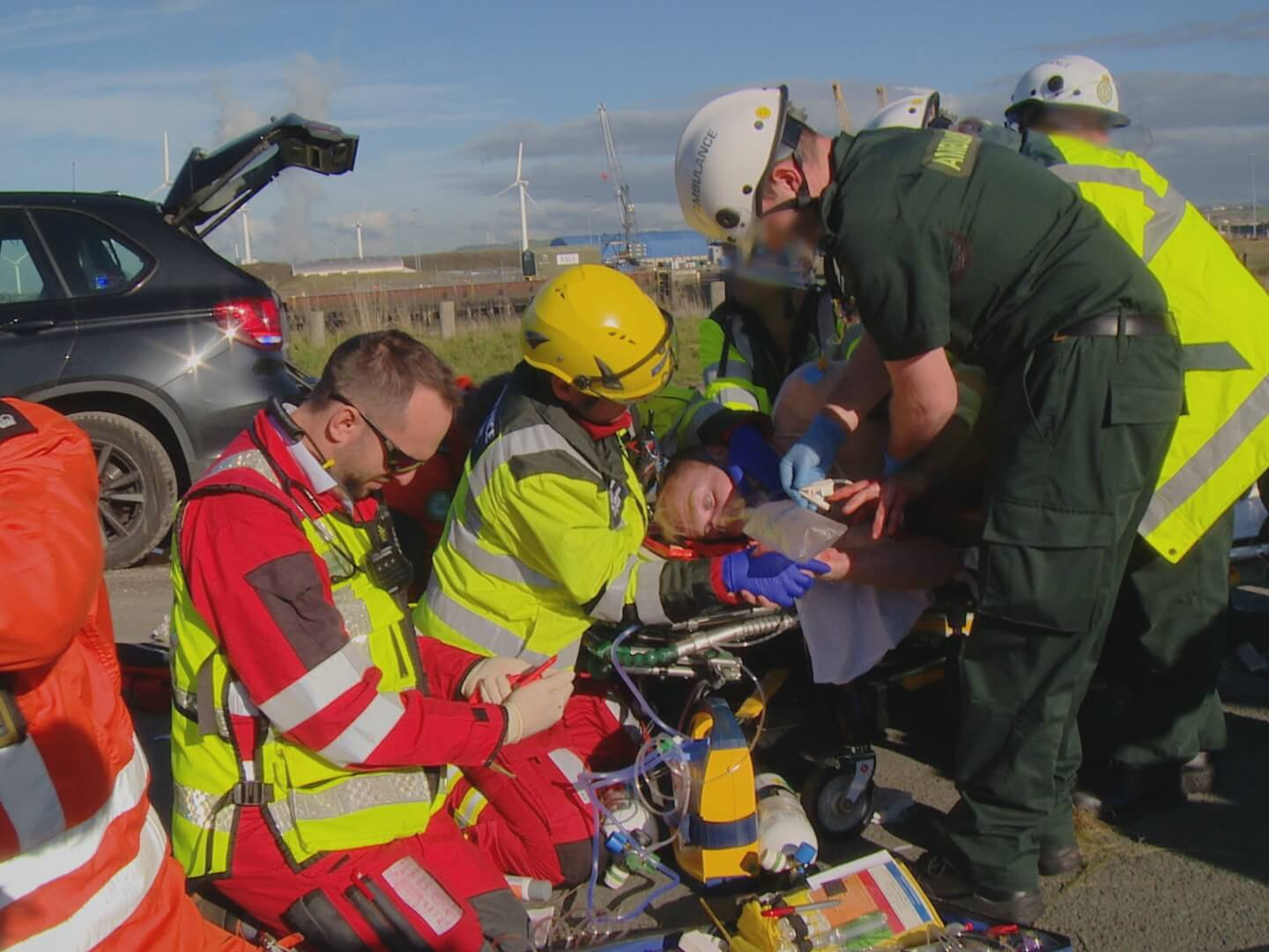 GNAAS team join the effort to save Richard Stephenson, impaled in car crash near Workington