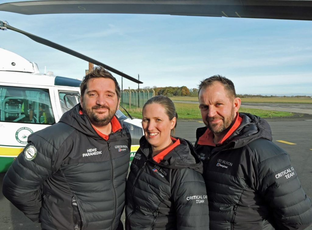 Gordon Ingram, Kate Allen and Lee Salmon of GNAAS