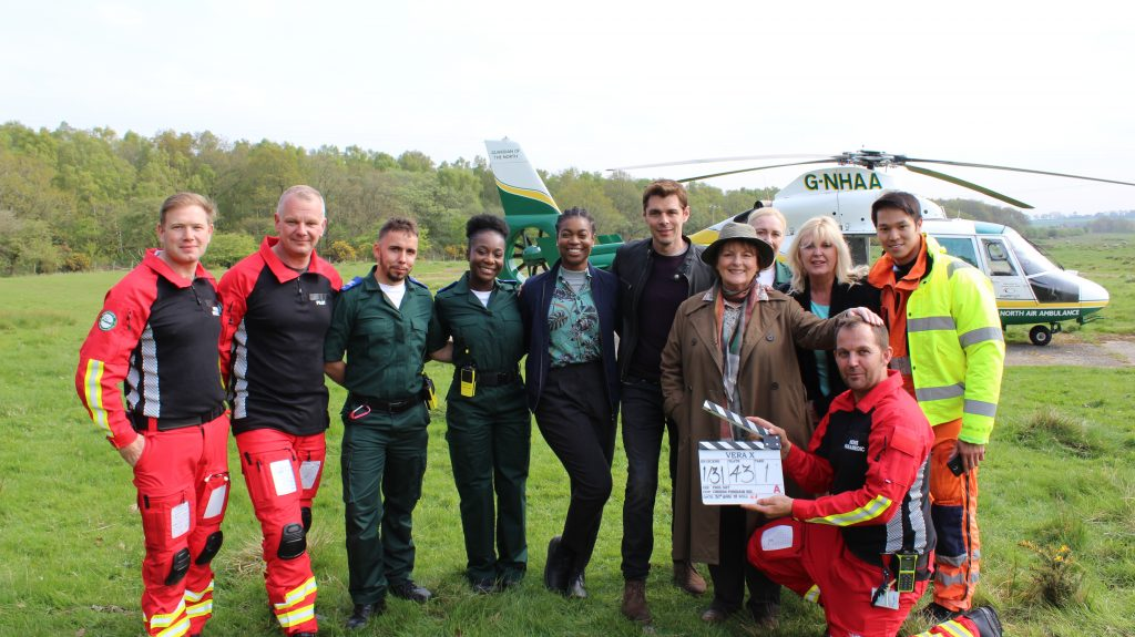 GNAAS critical care team on the set of Vera